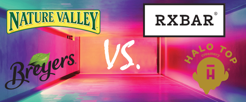 Nature Valley vs. RXBAR, Breyer's vs. Halo Top: CPG Marketers Step Away from Time-Tested Megabrands